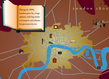 map of London 1800s