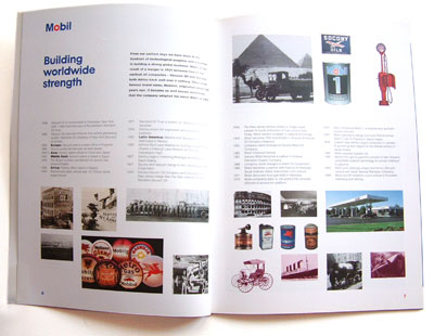 spread on the history of Mobil