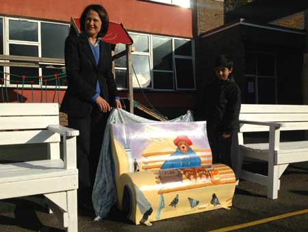 MP unveils the book bench
