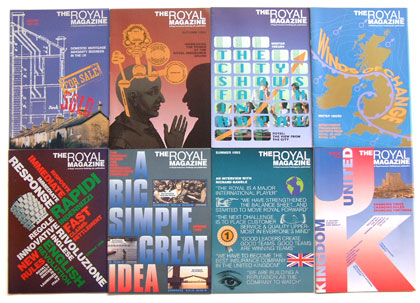 covers for Royal Insurance magazine